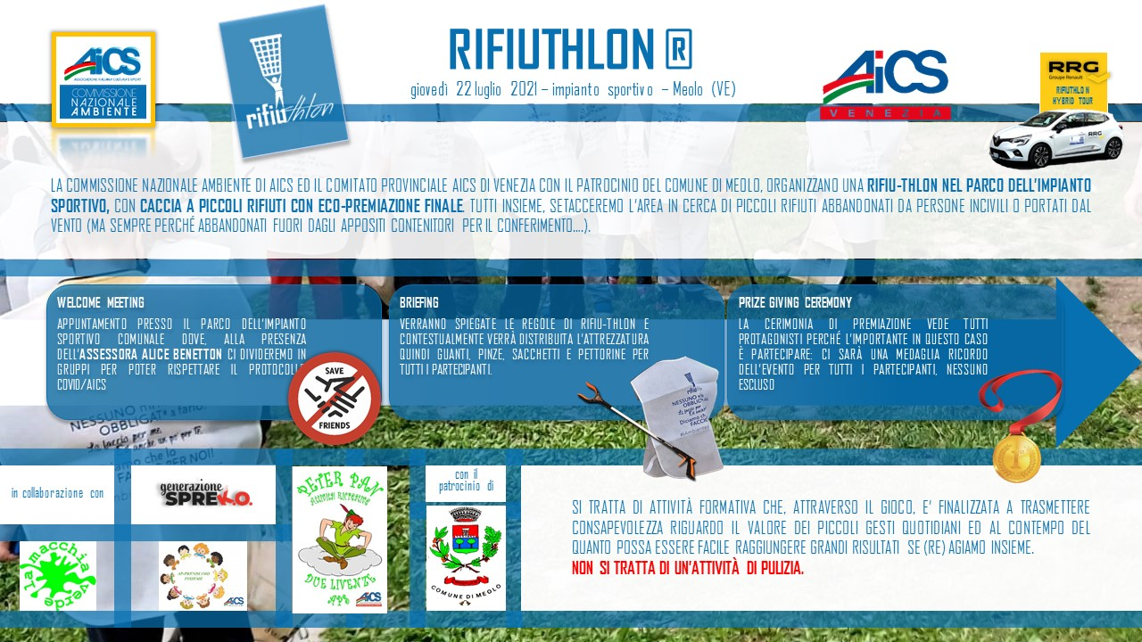 RIFIUTHLON-CACCIA AL RIFIUTO HYBRID TOUR 22 Luglio a Meolo